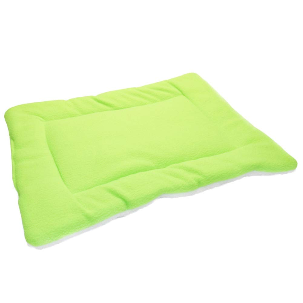 Grass Green 45x50cm Grass Green 45x50cm SHYPwM Warm Pet Dog Bed Soft Fleece Comfortable Pet Nest Breathable Pet Mat Kennel for Dog Cat Puppy Mattress Pet Bed (color   Grass Green, Size   45x50cm)