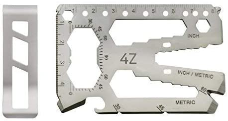 Multi-Purpose Credit Card Size Wallet Pocket Tool with 40 in 1 Minimalist Uses