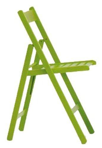La Vetrina dei Desideri 4 Sedie Pieghevoli Verde