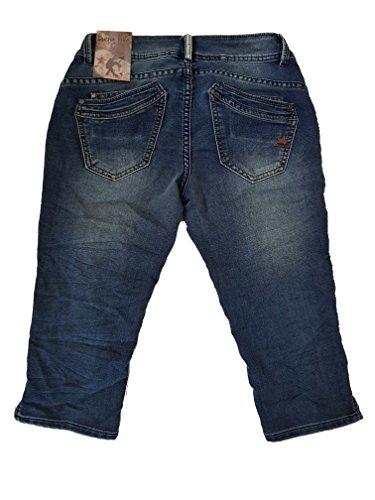 Medio capri Malibu Denim Blue Buena Sportivo Vista Donna Jeans OqTaP0T
