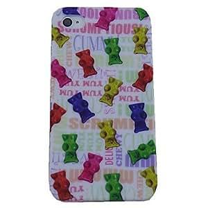 HP DF Colour Cat Design Pattern Soft Case for iPhone 4/4S