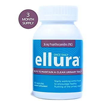 Image of Health and Household ellura 36 mg PAC (90 caps) – Medical-Grade Cranberry Supplement for UTI Prevention – Highest Potency
