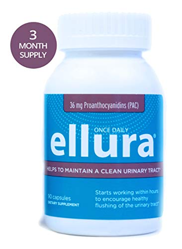 ellura 36 mg PAC (90 caps) - Medical-Grade Cranberry Supplement for UTI Prevention - Highest Potency (Best Thing For Uti)