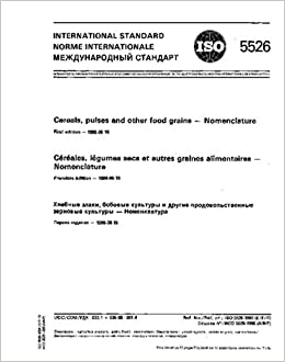 ISO 5526:1986, Cereals, pulses and other food grains -- Nomenclature