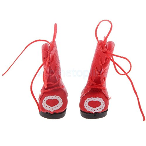 stylish-heart-print-shoes-martin-boots-for-1-6-scale-bjd-sd-dollfies-red