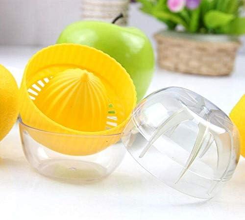 MINI Exprimidor portátil para limón 100% jugo de fruta mango amarillo Citrus Press Exprimidor de plástico Herramienta de cocina de vida saludable