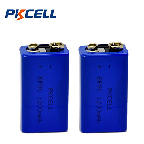 9V Non-Rechargeable Lithium Battery 1200mAH For Smoke Detectors