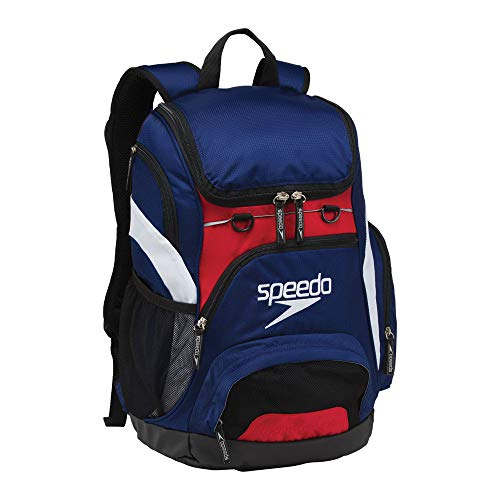 Speedo Printed Teamster 35L Backpack, Navy/Red/White, 1SZ