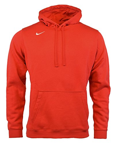 (Nike Men's Club Fleece Hoodie (Large, Red))
