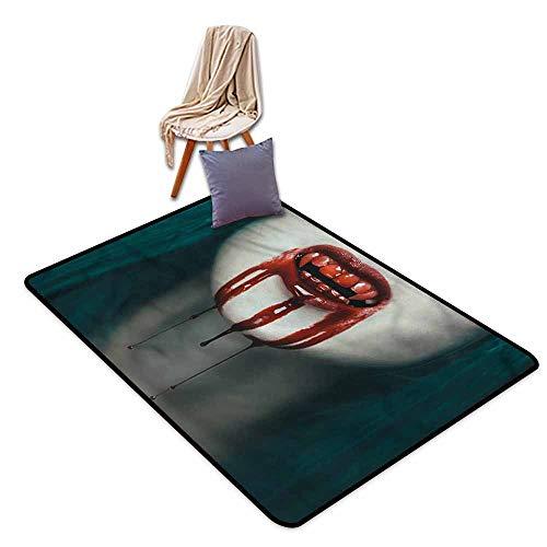 Large Area mat,Vampire Bloody Teeth Horrifying,Ideal Gift for Children,3'11