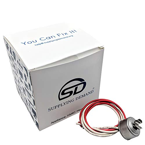 (Supplying Demand Refrigerator Freezer Defrost Thermostat For Evaporator Coil Stat Compatible With GE, Whirlpool, LG, Samsung, Frigidaire ... (60 Degree) )