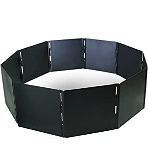 """Campfire Portable Fire Pit Ring 48"""" Diameter 12 Panels Stackable Heavy Steel"""