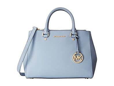 64dbb9ea386f Amazon | MICHAEL KORS マイケルコース SUTTON MEDIUM SATCHEL PALE BLUE [並行輸入品] |  ハンドバッグ