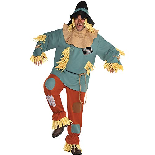 SUIT YOURSELF Silly Scarecrow Costume for Men, Wizard of Oz, Plus Size, with Included Accessories]()