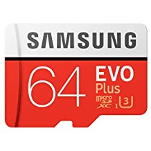 Samsung EVO Plus Class 10 Micro SDHC with Adapter, 64GB (MB-MC64GA/CA)