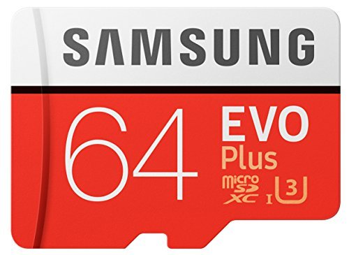 Samsung EVO Plus MicroSDXC 64GB Memory Card with Adapter (MB-MC64GA/AM) [US Version]