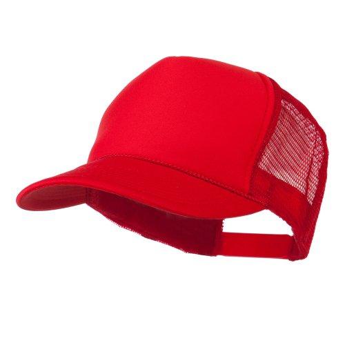 Foam Front Golf Style Mesh Back Cap - Red OSFM