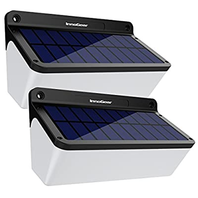 InnoGear Outdoor Solar Lights with Soft White Light Radar Motion Sensor Wall Light Waterproof LED Security Lighting with 2 Modes Auto On/ Off for Patio, Deck, Step, Fence, Yard, Garage