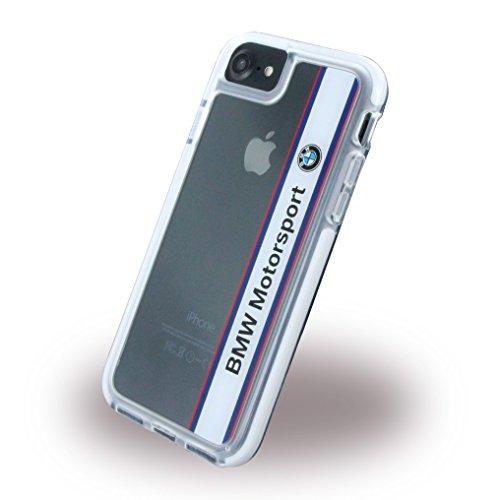 BMW bmhcp7spvwh Moteur Sport anti-chocs Coque rigide pour Apple iPhone 7vertical Logo, Blanc