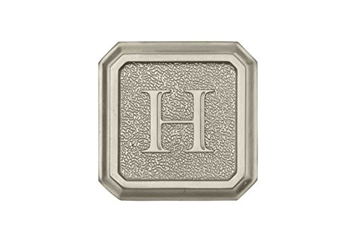 Architectural Mailboxes 3650SN-H Aluminum Satin Nickel Monogram - Letter