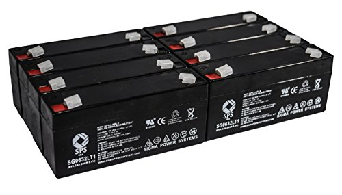 (SPS Brand 6V 3.2Ah (Termina LT1) Replacement Battery fof Rigel 309 MULTICARE Monitor (8 Pack))
