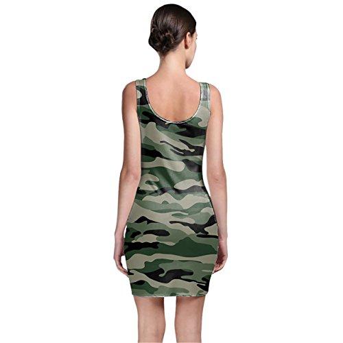Queen of Cases - Robe - Moulante - Sans Manche - Femme vert Green taille unique