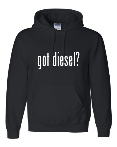 Large Black Adult Got Diesel? Funny Sweatshirt Hoodie (Cummins Diesel Sweatshirt compare prices)