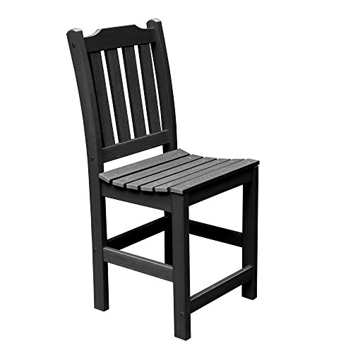 Highwood Lehigh Armless Counter Height Chair, Black