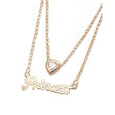 Rose Gold Collar Bone Mother Daughter Pendants Necklace Amazonco