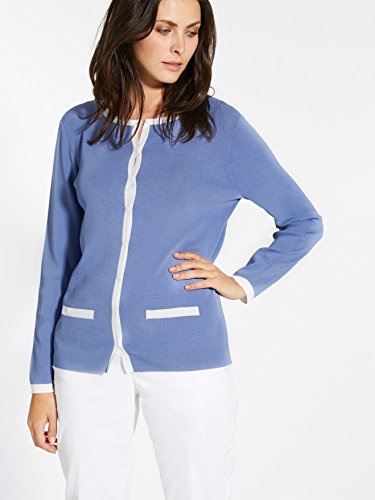 bicolore Cardigan longues femme manches Balsamik Bleu 1pqnw5wCH