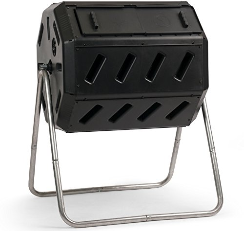 FCMP Outdoor IM4000 Tumbling Composter, 37 gallon, Black (Good Ideas Compost Bin)