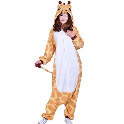 Ikerenwedding Unisex Giraffe Pajamas Adult Onesie Halloween Cosplay (Carrot Costume Pattern)