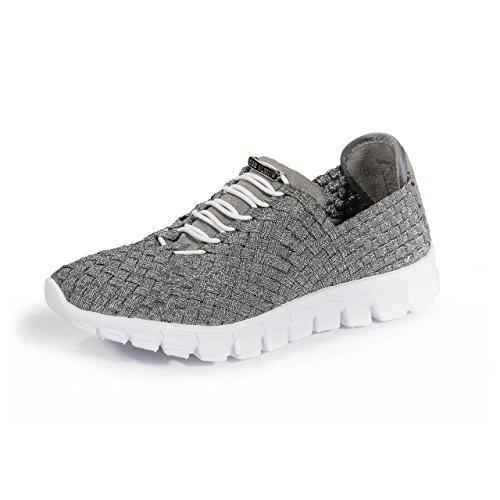 ZEEALEXIS Frauen Danielle Sneaker Zinn