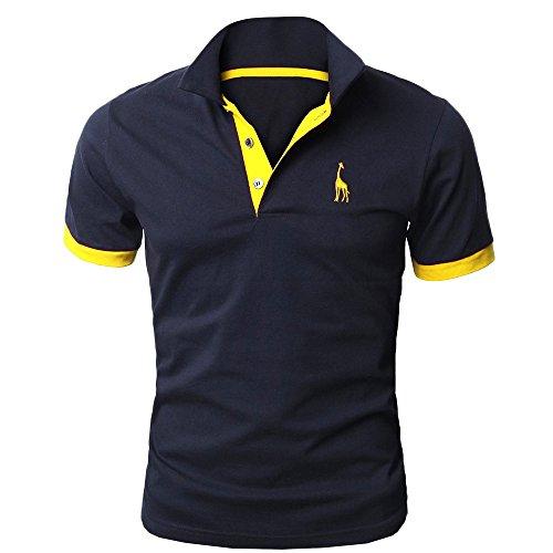 ドレインドループ誤解させる(トレジャーボックス) Treasure Box ゴルフウェア メンズ ポロシャツ 半袖 刺繍