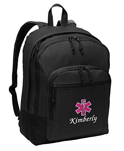 Star of Life Paramedic Personalized Embroidered Back Pack