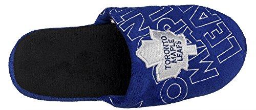 Nhl Uomo Sollevato Scarpa Pantofole Logo 3-d Team - Scegli Squadra Toronto Foglie Dacero