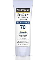 Neutrogena Ultra Sheer Dry-Touch Sunscreen SPF 70 3 oz (Pack of 3)