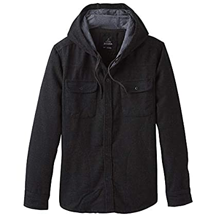 Image of Casual Button-Down Shirts prAna Men's Long  Bolster Ls Hooded Flannel
