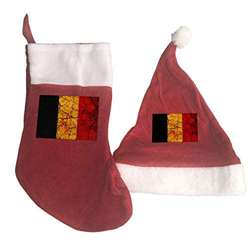Vintage Chad Flag Santa Hat & Christmas Stocking Holiday Christmas Decorations Party Accessory
