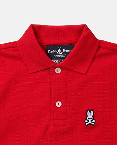 Psycho Bunny Kids Baby Boy's Classic Polo (Toddler/Little Kids/Big Kids) Brilliant Red 10/12 by Psycho Bunny Kids (Image #1)