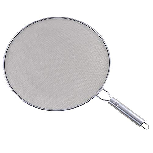 wonderfulwu Stainless Steel Explosion-Proof Cover Frying Pan Oil Water Soup Food Splash Prevention Mesh Cover Pizza Holder