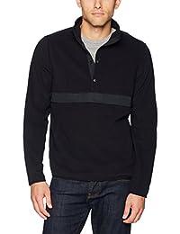 Men's Polar Fleece Snap-Collar Pullover Jacket, Amazon Exclusive