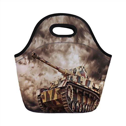 Portable Bento Lunch Bag,War Home Decor,German Tank in