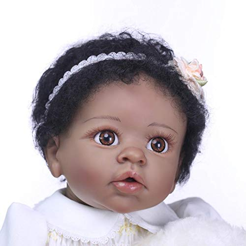 22inch55cm Baby Reborn Dolls Soft Silicone Realistic Looking Baby Doll Girl Toddler Real Touch Xmas Gift Bebe American Indian Style Factory Director Sales RBB Dolls