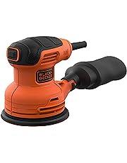 Black+Decker 230W 13,000 RPM Corded Random Orbit Sander, Orange/Black - BEW210-GB, 2 Years Warranty