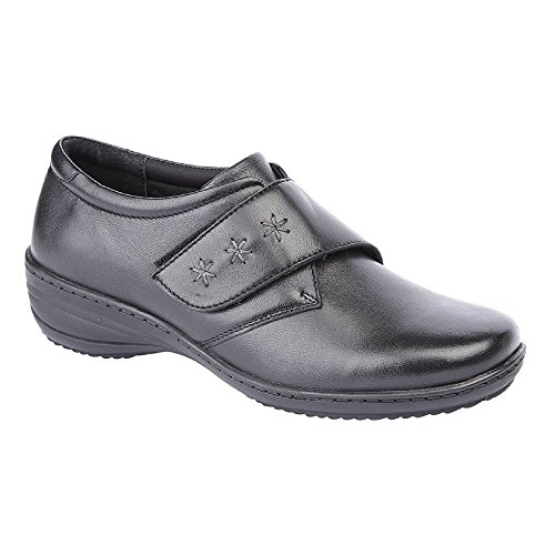 Memory Shoe Pewter Foam Comfys Leather Womens Mod Ladies Touch q4wtSAyB1