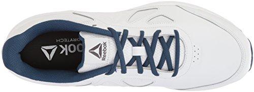 Reebok Mens Walk Ultra 6 Dmx Max Sneaker Bianco / Blu Lavato