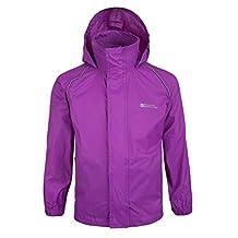 Mountain Warehouse Pakka Kids Waterproof Rain Jacket Girls Boys Toddlers Purple 9-10 years