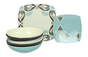 servizio piatti da tavola 18 pezzi area cool porcellana tognana