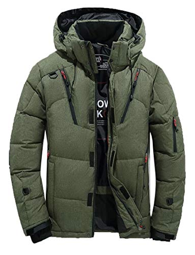 Hooded Outdoor Jackets Men's Athletic Coat Gocgt Coat 1 Down Outerwear twYf1